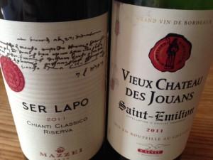 Ett klassiskt chiantivin och en klassisk Bordeaux. Två av provningens toppar!bild